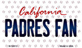 Padres Fan California State License Plate Magnet M-10813