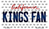 Kings Fan California State License Plate Magnet M-10827