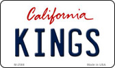 Kings California State License Plate Magnet M-2588