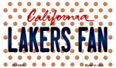 Lakers Fan California State License Plate Magnet M-10860