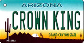 Crown King Arizona State License Plate Key Chain KC-2892