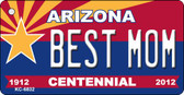 Best Mom Arizona Centennial State License Plate Key Chain KC-6832