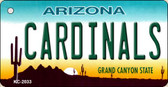 Cardinals Arizona State License Plate Key Chain KC-2033