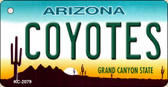 Coyotes Arizona State License Plate Key Chain KC-2279