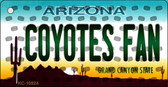Coyotes Fan Arizona State License Plate Key Chain KC-10824