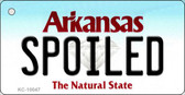 Spoiled Arkansas State License Plate Key Chain KC-10047