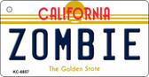 Zombie California State License Plate Key Chain KC-6857