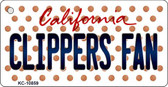 Clippers Fan California State License Plate Key Chain KC-10859