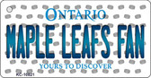 Maple Leafs Fan Ontario State License Plate Key Chain KC-10821