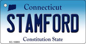 Stamford Connecticut State License Plate Key Chain KC-10893