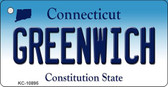 Greenwich Connecticut State License Plate Key Chain KC-10895