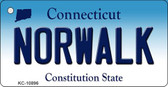 Norwalk Connecticut State License Plate Key Chain KC-10896