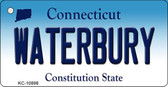 Waterbury Connecticut State License Plate Key Chain KC-10898