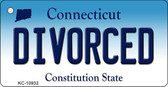 Divorced Connecticut State License Plate Key Chain KC-10933
