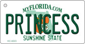 Princess Florida State License Plate Key Chain KC-6023