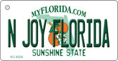 N Joy Florida State License Plate Key Chain KC-6028