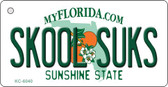 Skool Suks Florida State License Plate Key Chain KC-6040