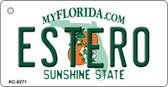 Estero Florida State License Plate Key Chain KC-8271