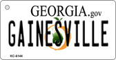 Gainesville Georgia State License Plate Novelty Key Chain KC-6144