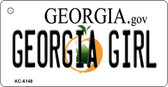 Georgia Girl State License Plate Novelty Key Chain KC-6148