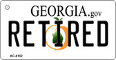 Retired Georgia State License Plate Novelty Key Chain KC-6152
