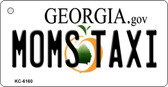 Moms Taxi Georgia State License Plate Novelty Key Chain KC-6160