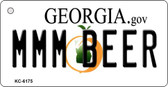 MMM Beer Georgia State License Plate Novelty Key Chain KC-6175