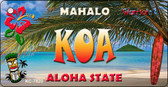 Koa Tiki Novelty Metal Key Chain KC-7820