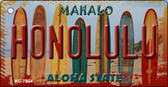 Honolulu Surfboards Novelty Metal Key Chain KC-7834