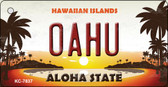 Oahu Hawaiian Islands Novelty Metal Key Chain KC-7837