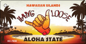 Hang Loose Hawaiian Islands Novelty Metal Key Chain KC-7838