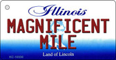 Magnificent Mile Illinois State License Plate Key Chain KC-10330
