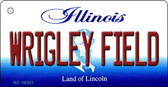 Wrigley Field Illinois State License Plate Key Chain KC-10331