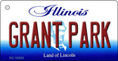 Grant Park Illinois State License Plate Key Chain KC-10333