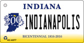 Indianapolis Indiana State License Plate Novelty Key Chain KC-6377