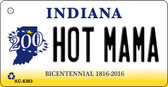 Hot Mama Indiana State License Plate Novelty Key Chain KC-6383