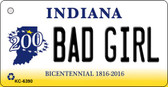 Bad Girl Indiana State License Plate Novelty Key Chain KC-6390