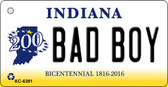 Bad Boy Indiana State License Plate Novelty Key Chain KC-6391
