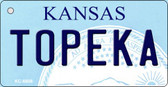 Topeka Kansas State License Plate Novelty Key Chain KC-6608