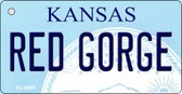 Red George Kansas State License Plate Novelty Key Chain KC-6609