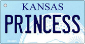 Princess Kansas State License Plate Novelty Key Chain KC-6625
