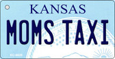 Moms Taxi Kansas State License Plate Novelty Key Chain KC-6626