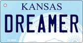 Dreamer Kansas State License Plate Novelty Key Chain KC-6634