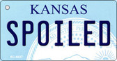 Spoiled Kansas State License Plate Novelty Key Chain KC-6637