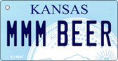 MMM Beer Kansas State License Plate Novelty Key Chain KC-6640