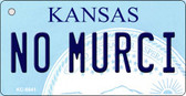 No Murci Kansas State License Plate Novelty Key Chain KC-6641