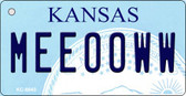 Meeooww Kansas State License Plate Novelty Key Chain KC-6643