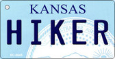 Hiker Kansas State License Plate Novelty Key Chain KC-6645