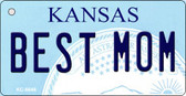 Best Mom Kansas State License Plate Novelty Key Chain KC-6646