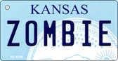 Zombie Kansas State License Plate Novelty Key Chain KC-6748